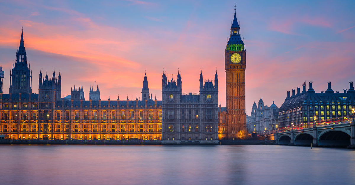 Shutterstock/ Big Ben and Houses of parliament at dusk, London, UK