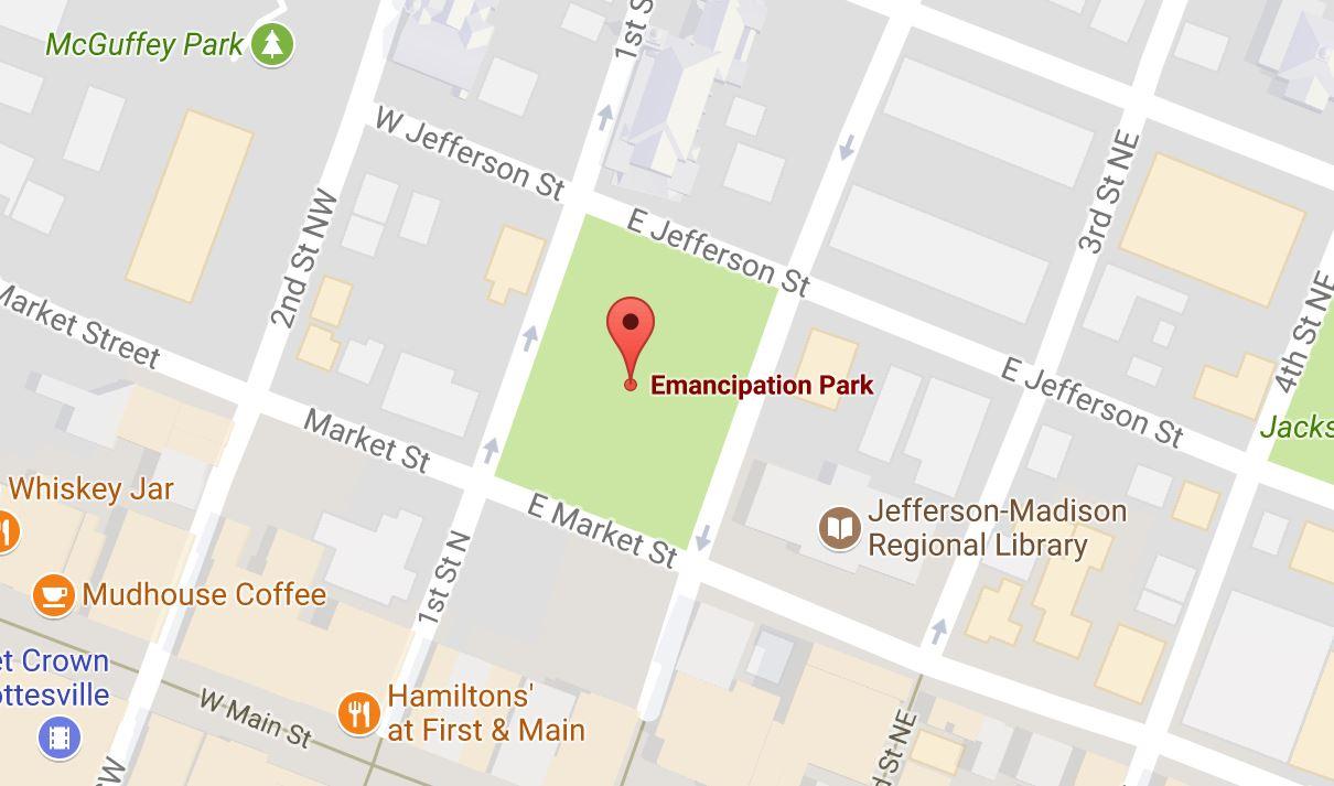 Map of Charlottesville, Va. (Google Maps screen grab)