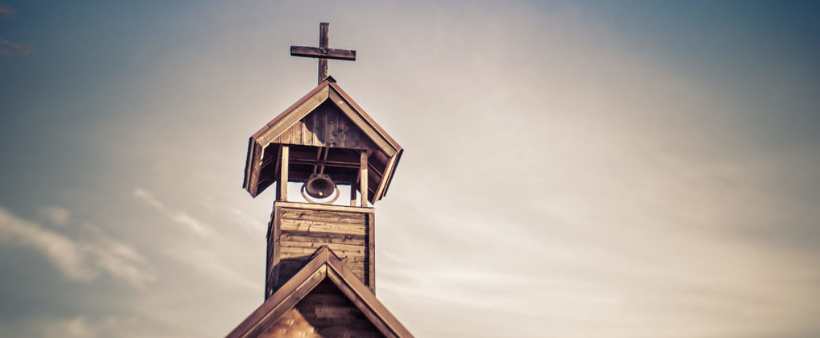 Rural wood church cross (BCFC/shutterstock_177275234)