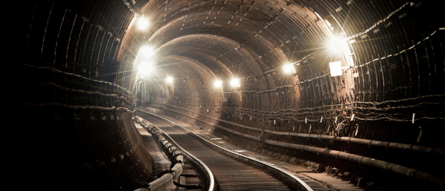 A subway tunnel and tracks. [Shutterstock - Oleg Totskyi]