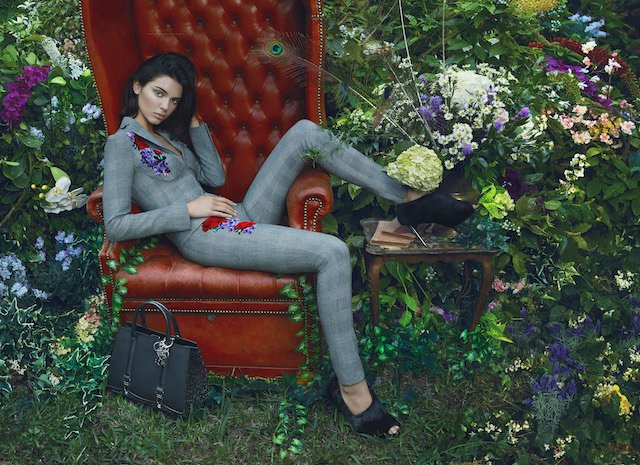 Model Kendall Jenner stars in the new fashion campaign from Italian brand La Perla. The 21-year-old stars in the autumn [fall] / winter 2017 collection campaign. It was shot by Mert Alas and Marcus Piggott. The latest botanical themed images from the brand were inspired by Baroque and Pre-Raphaelite painters Rachel Ruysch and Alma Tadema, and aim to showcase La Perla's latest collection of t-shirts, gowns, dresses, sweaters, and delicate tank tops, according to the company. She also appears in behind the scenes photos from the shoot. *MUST CREDIT Splash/La Perla* <P> Pictured: Kendall Jenner for La Perla <B>Ref: SPL1561340 240817 </B><BR /> Picture by: Splash/La Perla