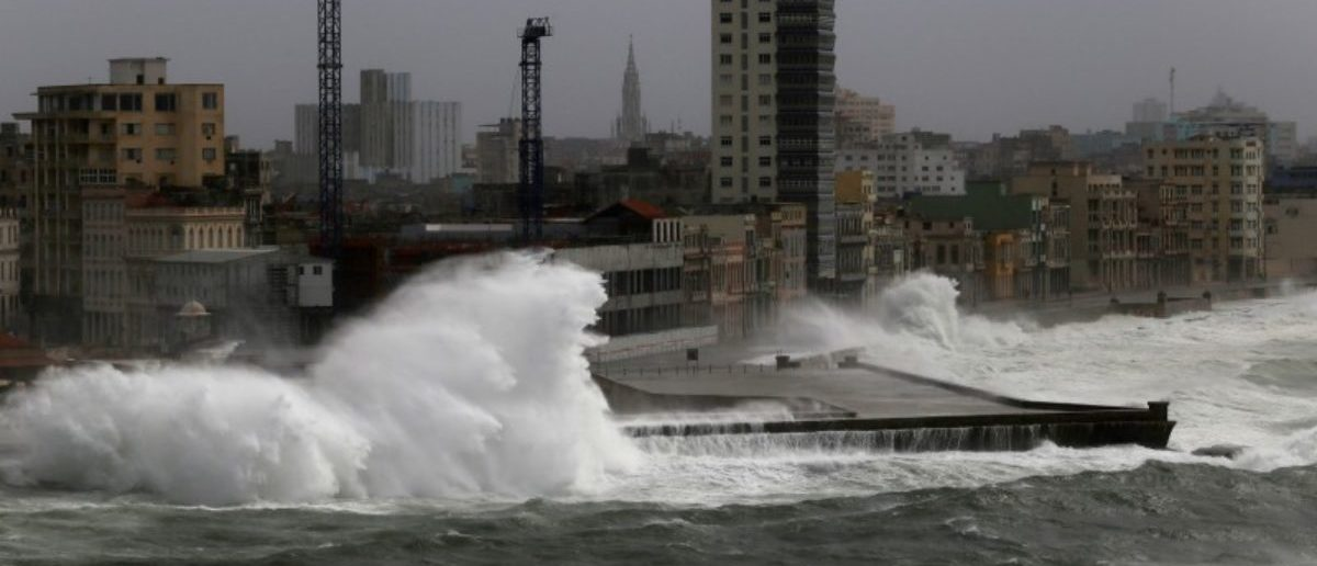 Waves crash against the seafront boulevard El Malecon as Hurricane Irma turns toward the Florida Keys on Saturday, in Havana, Cuba September 9, 2017. REUTERS/Stringer