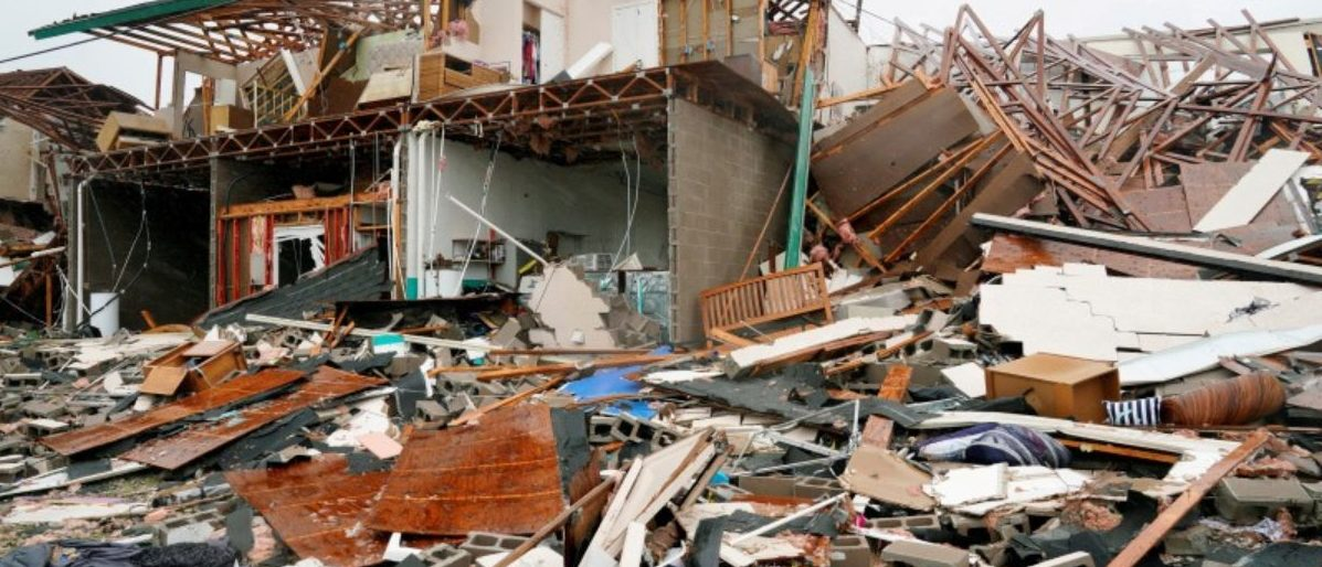 FILE PHOTO: A condominium complex is reduced to rubble after Hurricane Harvey struck in Rockport