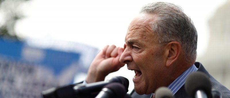 Senate Minority Leader Chuck Schumer speaks at a rally to protect the Affordable Care Act outside the U.S. Capitol in Washington, U.S., September 19, 2017. REUTERS/Aaron P. Bernstein