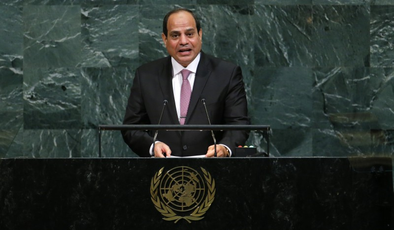 Egyptian President Abdel Fattah Al Sisi addresses the 72nd United Nations General Assembly at U.N. Headquarters in New York, U.S., September 19, 2017. REUTERS/Eduardo Munoz