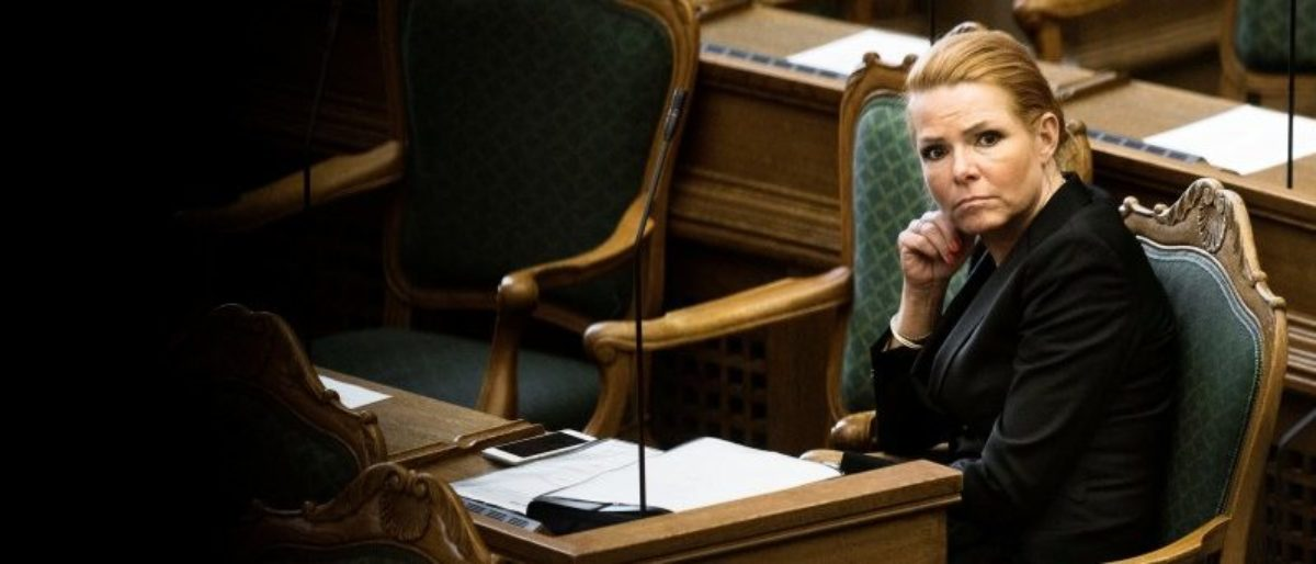 Denmark's Minister of Immigration and Integration Inger Stojberg listens to the debate in the Danish Parliament, January 26, 2016. REUTERS/Mathias Loevgreen Bojesen/Scanpix/File Photo