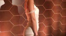 Bella Hadid rocks sheer white dress at New York Fashion week. (photo: Instagram)