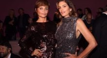 Cindy Crawford looks incredible in silver sequins dress at New York Fashion Week. (photo: Instagram)