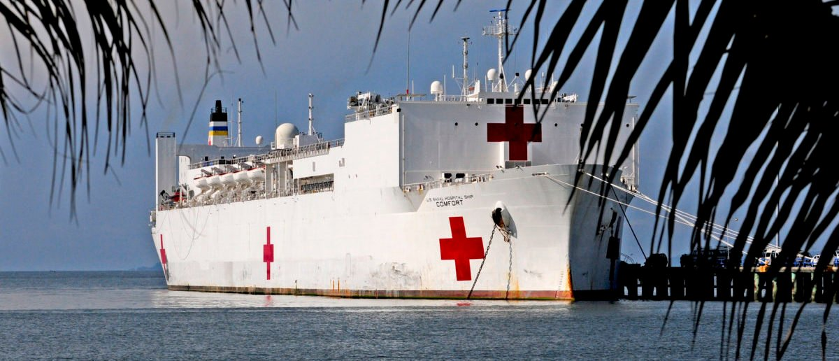 PUNTARENAS, Costa Rica (Aug. 3, 2011) The Military Sealift Command hospital ship USNS Comfort (T-AH 20) is moored pierside in Puntarenas, Costa Rica for Continuing Promise 2011. Continuing Promise is a five-month humanitarian assistance mission to the Caribbean, Central and South America. (U.S. Navy photo by Mass Communication Specialist 1st Class Kim Williams/Released)
