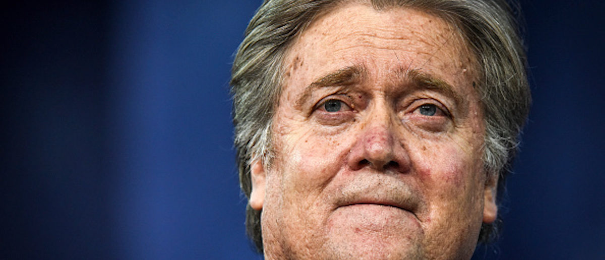 FILE -- Steve Bannon during a panel discussion at the Conservative Political Action Conference on February, 23, 2017 in Washington, D.C. (Photo by Bill O'Leary/The Washington Post via Getty Images)