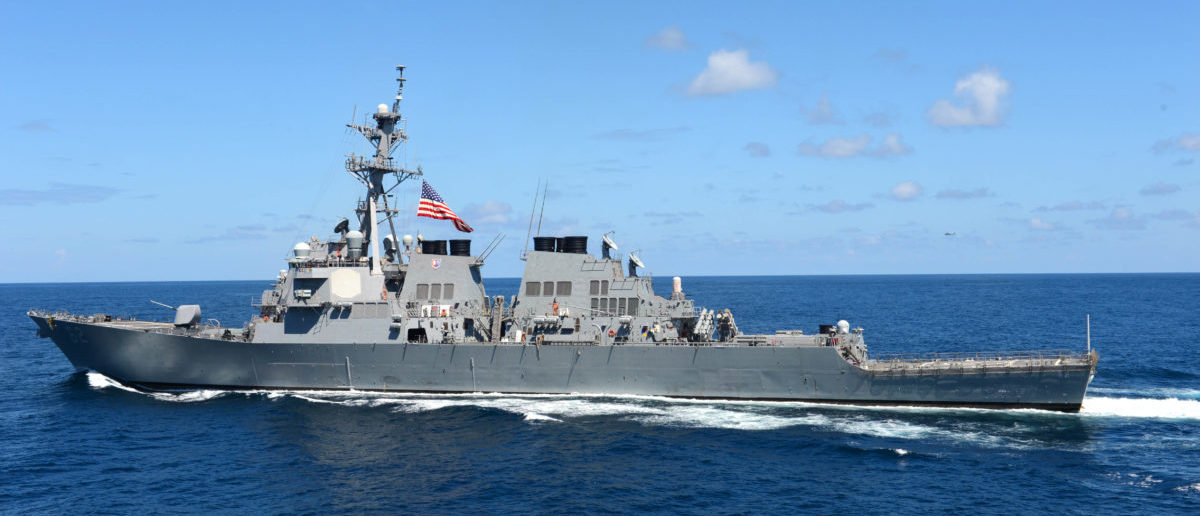 PACIFIC OCEAN (Aug. 27, 2012) The guided-missile destroyer USS Fitzgerald (DDG 62) transits the Pacific Ocean. (U.S. Navy photo by Mass Communication Specialist 3rd Class Karen Blankenship/Released)