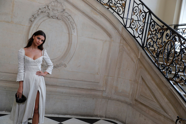 Model Emily Ratajkowski poses during a photocall before the Spring/Summer 2018 women's ready-to-wear collection show for fashion house Dior during Paris Fashion Week, France, September 26, 2017. REUTERS/Philippe Wojaze