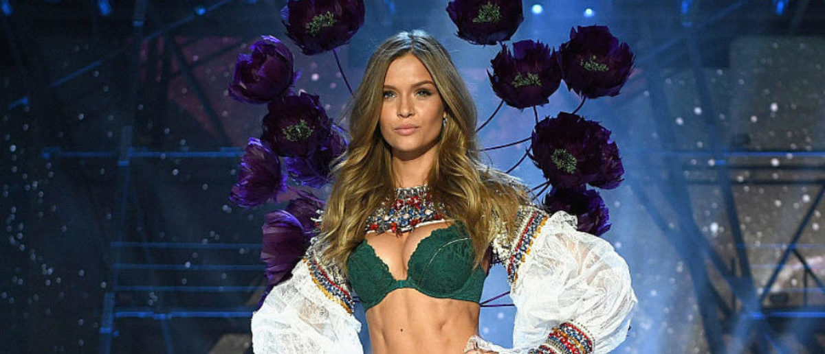Josephine Skriver walks the runway during the 2016 Victoria's Secret Fashion Show on November 30, 2016 in Paris. (Photo by Dimitrios Kambouris/Getty Images for Victoria's Secret)