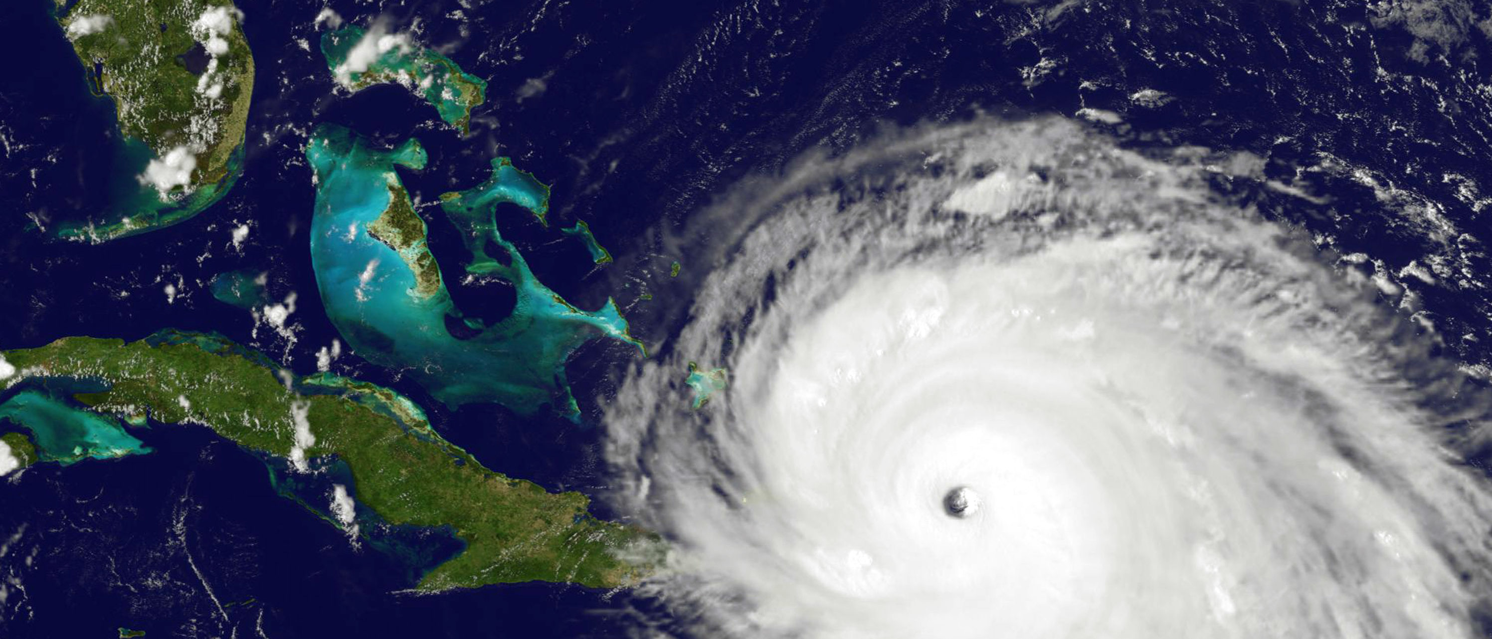 CARIBBEAN SEA - SEPTEMBER 7: In this NOAA handout image, NOAA's GOES satellite shows Hurricane Irma  as it moves towards the Florida Coast in the Caribbean Sea taken at 20:00 UTC on September 07, 2017. The state of Florida is in the track of where the hurricane may make landfall. (Photo by NOAA GOES Project via Getty Images)