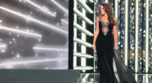 ATLANTIC CITY, NJ - SEPTEMBER 10:  Miss North Dakota 2017 Cara Mund participates in Evening Wear challenge during the 2018 Miss America Competition Show at Boardwalk Hall Arena on September 10, 2017 in Atlantic City, New Jersey.  (Photo by Donald Kravitz/Getty Images for Dick Clark Productions)