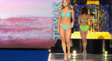 ATLANTIC CITY, NJ - SEPTEMBER 10:  Miss Texas 2017 Margana Wood participates in Swimsuit challenge during the 2018 Miss America Competition Show at Boardwalk Hall Arena on September 10, 2017 in Atlantic City, New Jersey.  (Photo by Donald Kravitz/Getty Images for Dick Clark Productions)