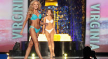 ATLANTIC CITY, NJ - SEPTEMBER 10:  Miss Tennessee 2017 Caty Davis  participates in Swimsuit challenge during the 2018 Miss America Competition Show at Boardwalk Hall Arena on September 10, 2017 in Atlantic City, New Jersey.  (Photo by Donald Kravitz/Getty Images for Dick Clark Productions)