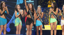 ATLANTIC CITY, NJ - SEPTEMBER 10: Miss North Dakota 2017 Cara Mund celebrates the round of victory during the 2018 Miss America Competition Show at Boardwalk Hall Arena on September 10, 2017 in Atlantic City, New Jersey.  (Photo by Donald Kravitz/Getty Images for Dick Clark Productions)