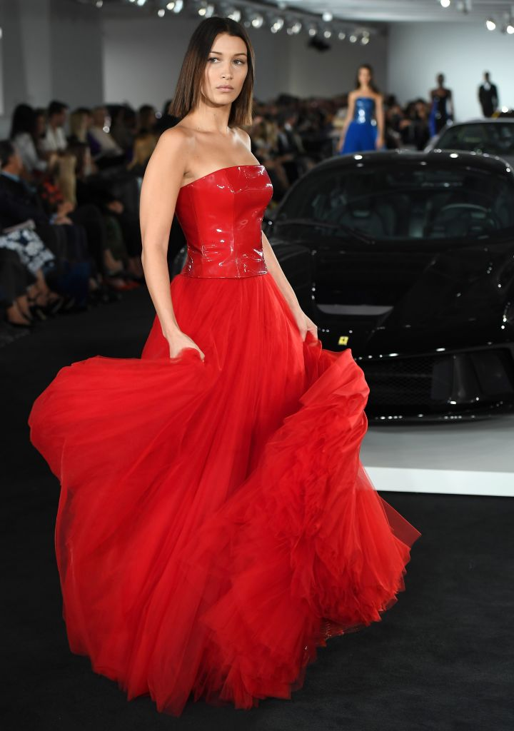 Bella Hadid Rocks Runway In Red Dress The Daily Caller