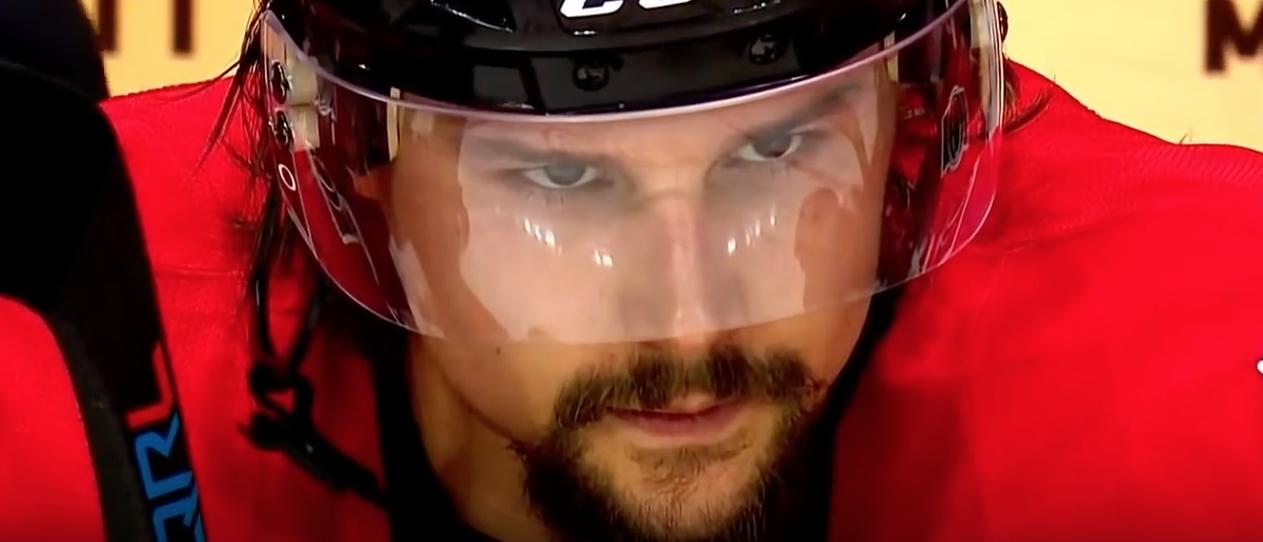Hockey player waiting to go on the ice. (Youtube screenshot/Puckin Around)