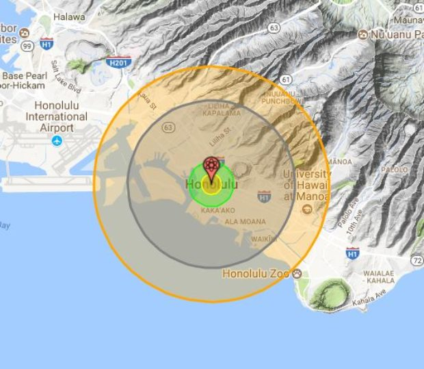 What NKs Nuke Could Do To A US City The Daily Caller - Nuke map us