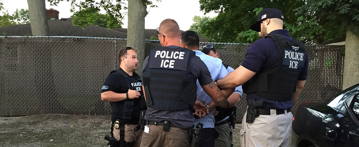 ICE officers make an arrest. (PHOTO: Courtesy of Immigration and Customs Enforcement/ice.gov)