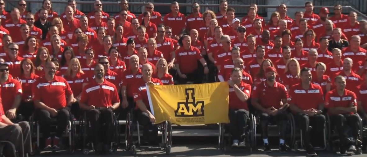 Invictus Games competitors. (Youtube screenshot/Accessible Media)