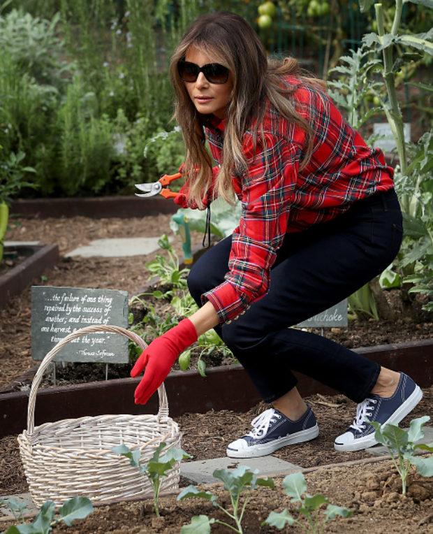 Melania Garden Wear 620x764 - Media Spends 2017 Attacking Melania Trump