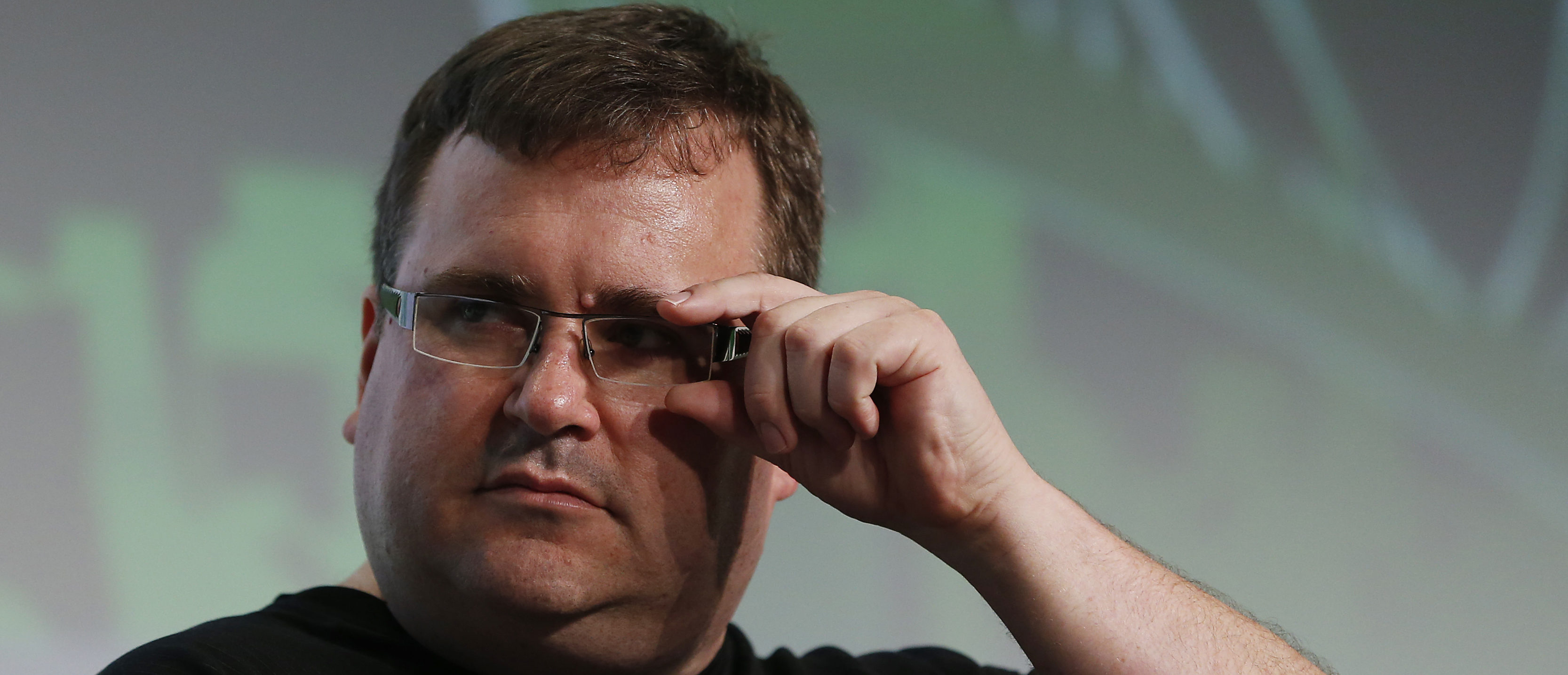 Reid Hoffman, executive chairman of LinkedIn, speaks on stage during day one of TechCrunch Disrupt SF 2012 event at the San Francisco Design Center Concourse in San Francisco, California September 10, 2012 REUTERS/Stephen Lam (UNITED STATES - Tags: BUSINESS SCIENCE TECHNOLOGY) - GM1E89B0CSA01