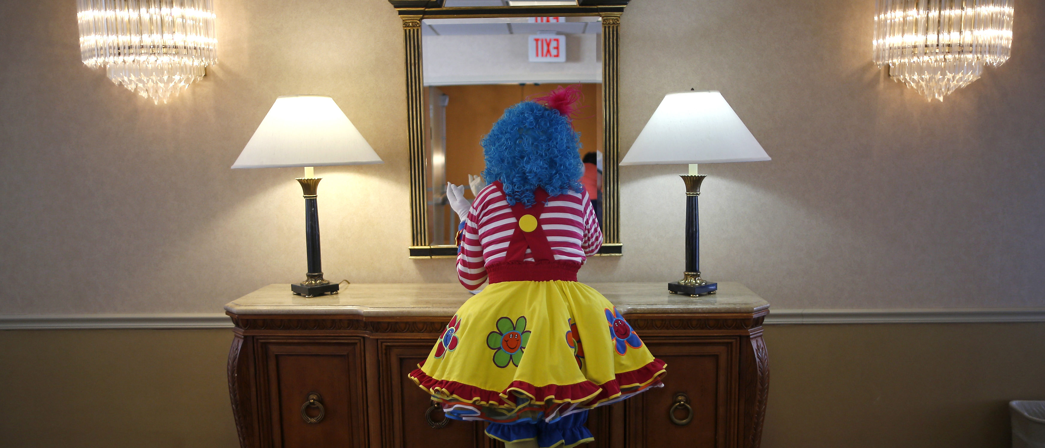 Woman dresses as a clown and murders her love rival. (Reuters)