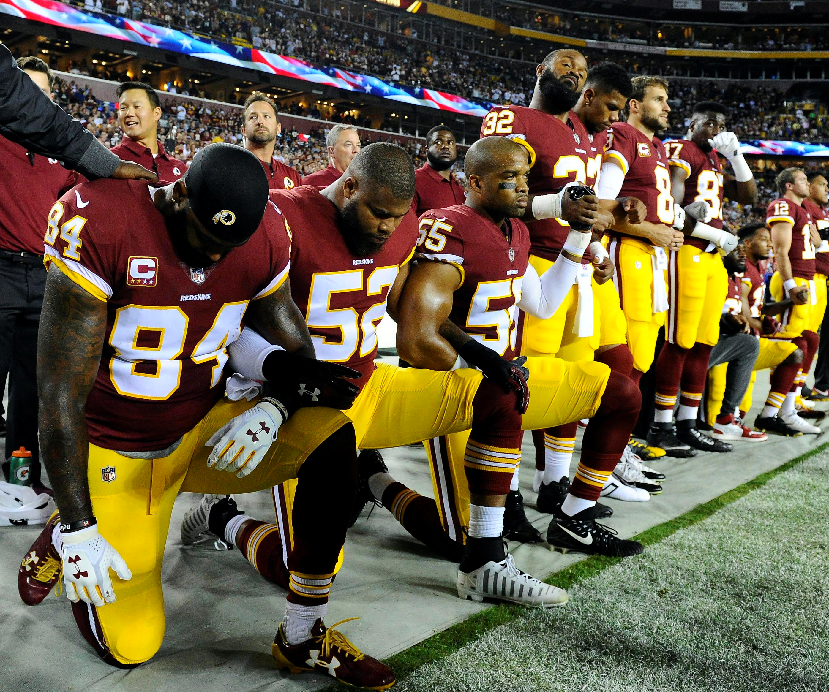 The Percentage Of Nfl Players That Didnt Stand For The Flag Is Unacceptable The Daily Caller