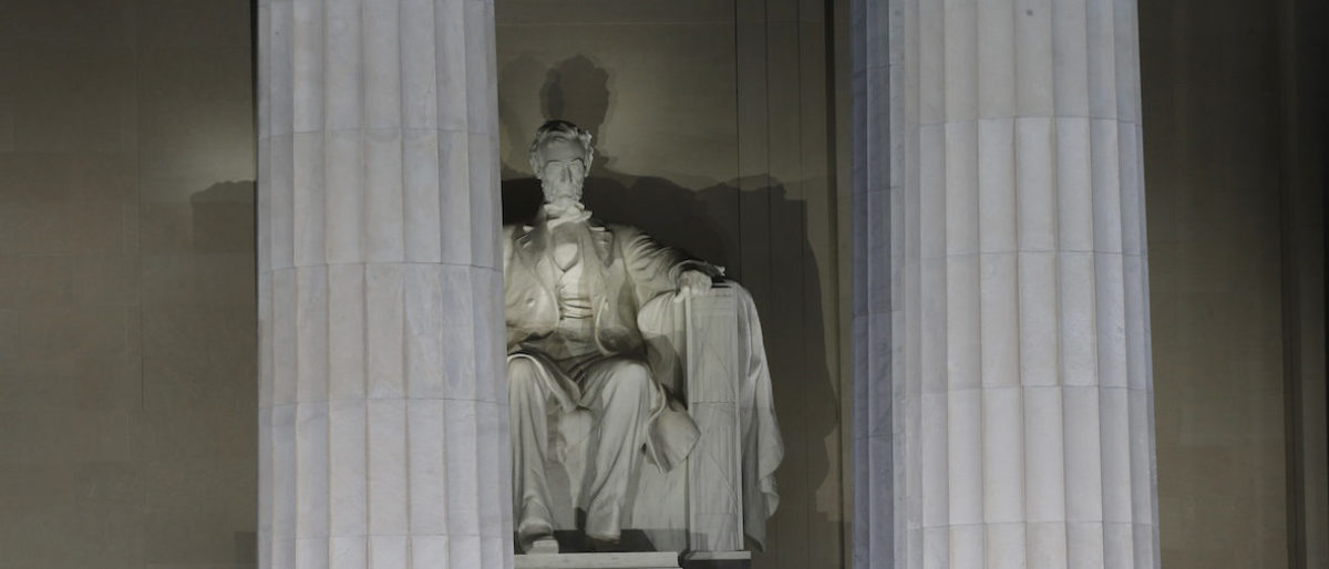 A man allegedly used a penny to vandalize the Lincoln Memorial in Washington, D.C. REUTERS/Mike Segar