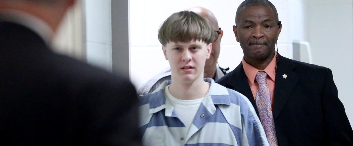 Dylann Roof is escorted into the court room at the Charleston County Judicial Center to enter his guilty plea on murder charges in state court for the 2015 shooting massacre at a historic black church, in Charleston, South Carolina, April 10, 2017. REUTERS/Grace Beahm/Pool - RC1292BB8290