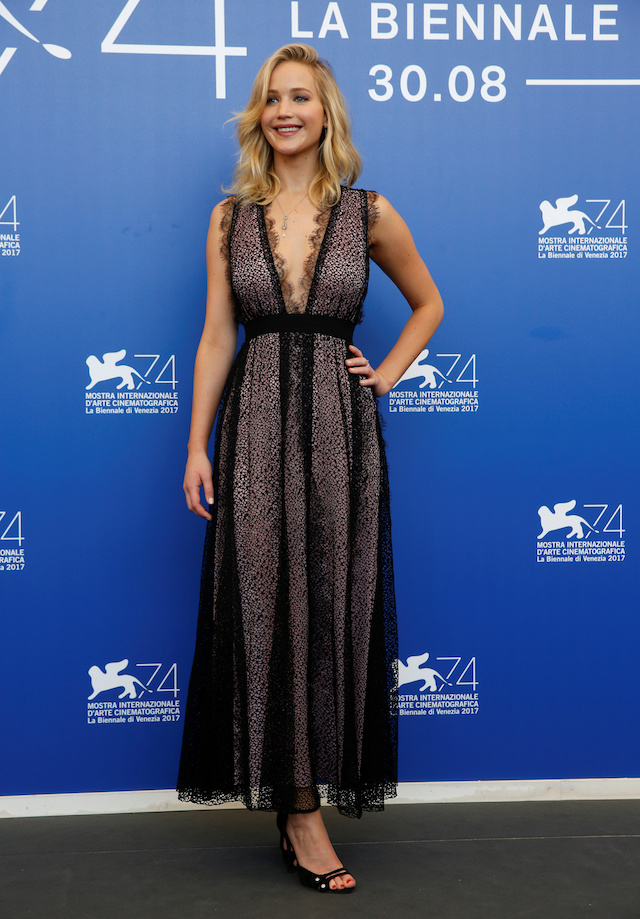 """Actor Jennifer Lawrence poses during a photocall for the movie """"Mother!"""" at the 74th Venice Film Festival in Venice, Italy September 5, 2017. REUTERS/Alessandro Bianchi - RC11D6E91600"""