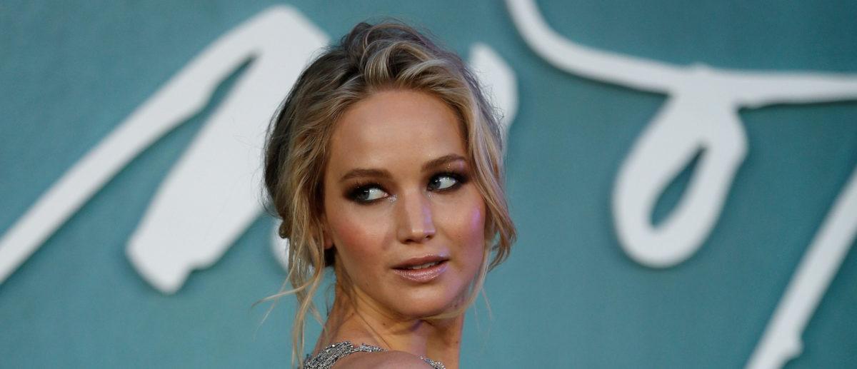"""Cast member Jennifer Lawrence arrives for the UK premiere of """"Mother"""" in London, September 6, 2017. REUTERS/Peter Nicholls"""