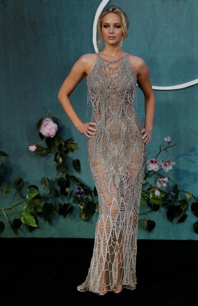 "Cast member Jennifer Lawrence arrives for the UK premiere of ""Mother"" in London, Britain September 6, 2017. REUTERS/Peter Nicholls - RC1327B3CAF0"