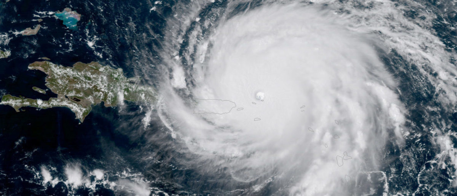 Hurricane Irma, a record Category 5 storm, is seen approaching Puerto Rico in this NOAA National Weather Service National Hurricane Center satellite image taken on September 6, 2017. Courtesy NOAA National Weather Service National Hurricane Center/Handout via REUTERS ATTENTION EDITORS - THIS IMAGE WAS PROVIDED BY A THIRD PARTY