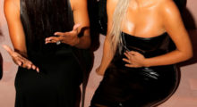 Ciara and Kim Kardashian attend the Tom Ford Spring/Summer 2018 collection presentation at New York Fashion Week in Manhattan, September 6, 2017.  REUTERS/Andrew Kelly