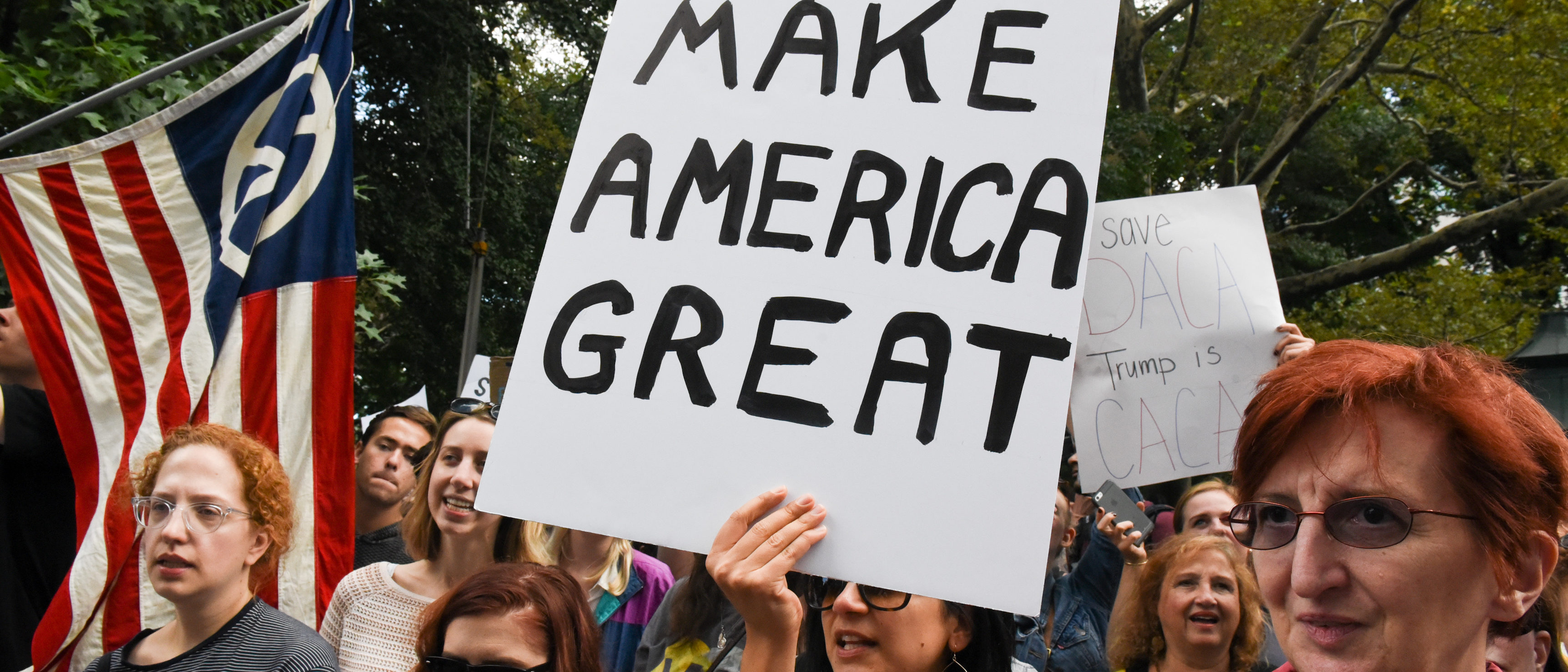 People participate in a protest in defense of the Deferred Action for Childhood Arrivals program or DACA in New York, U.S., September 9, 2017. REUTERS/Stephanie Keith
