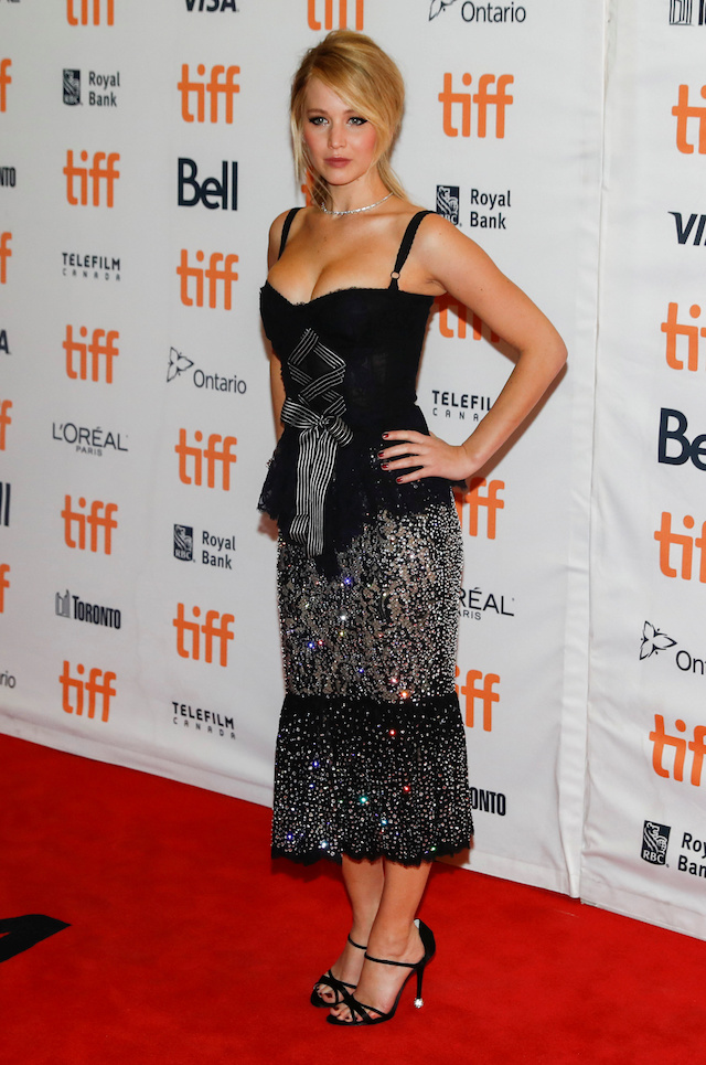 "Actor Jennifer Lawrence arrives on the red carpet for the film ""Mother!"" at the Toronto International Film Festival (TIFF), in Toronto, Canada, September 10, 2017. REUTERS/Mark Blinch - RC13A5C5D7E0"