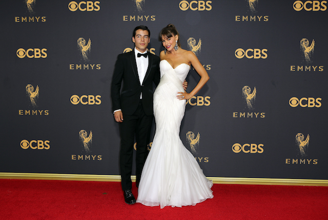 69th Primetime Emmy Awards ñ Arrivals ñ Los Angeles, California, U.S., 17/09/2017 - Sofia Vergara and Manolo Gonzalez-Ripoll Vergara. REUTERS/Mike Blake - HP1ED9H1RHEL8