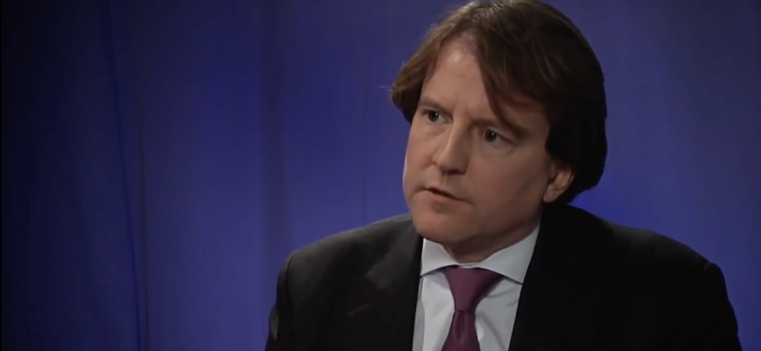 White House Counsel Don McGahn discussing campaign finance in 2013. (YouTube screenshot/The Cato Institute)