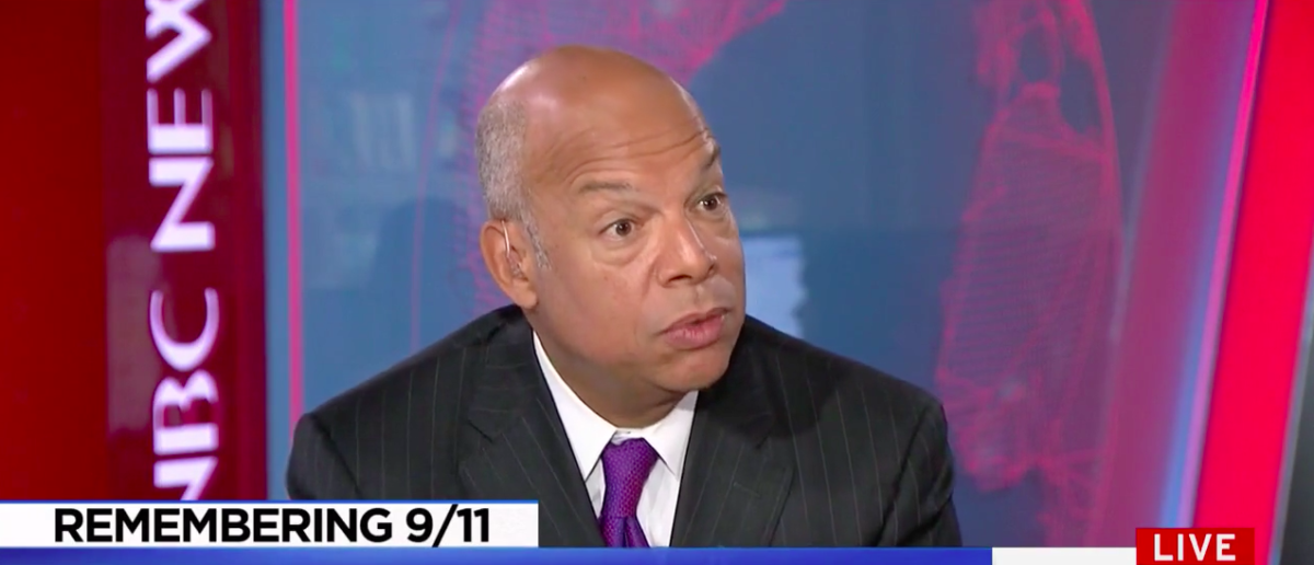 Screenshot Former DHS Secretary Jeh Johnson (MSNBC: Sep 11, 2017)