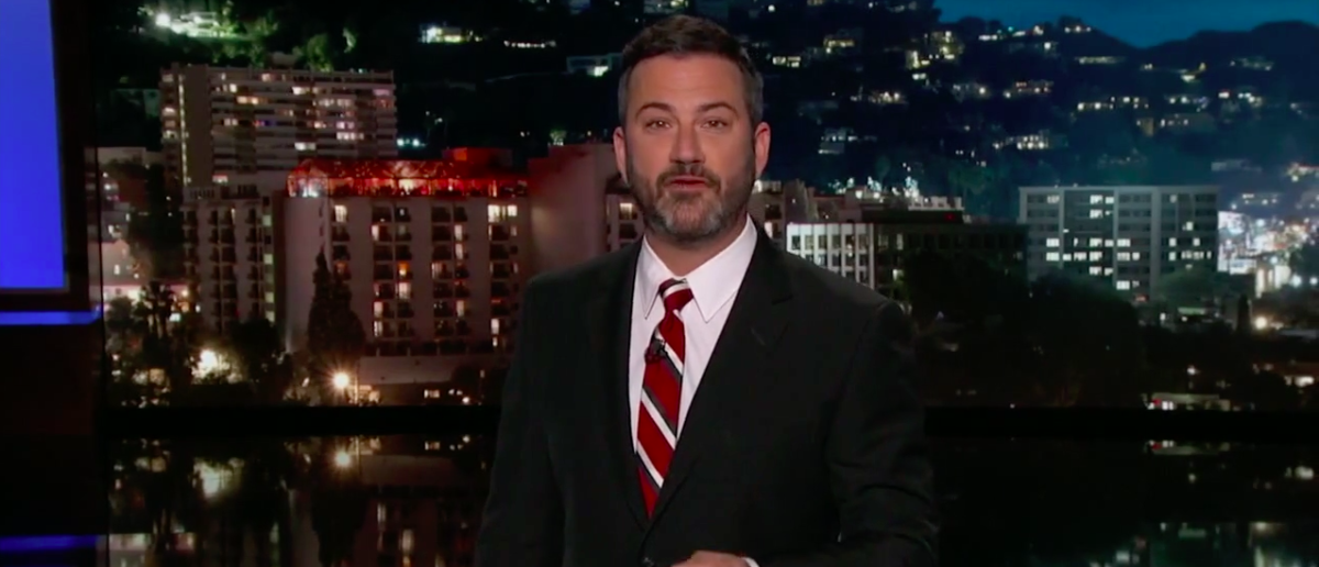 Screen Shot Jimmy Kimmel Threatens Brian Kilmeade (ABC: Sep 20, 2017)
