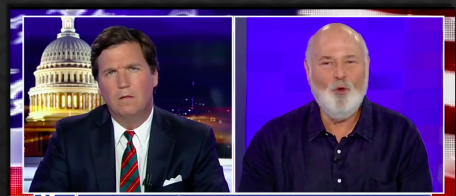 Tucker Carlson with Rob Reiner (photo: Fox News Screenshot)