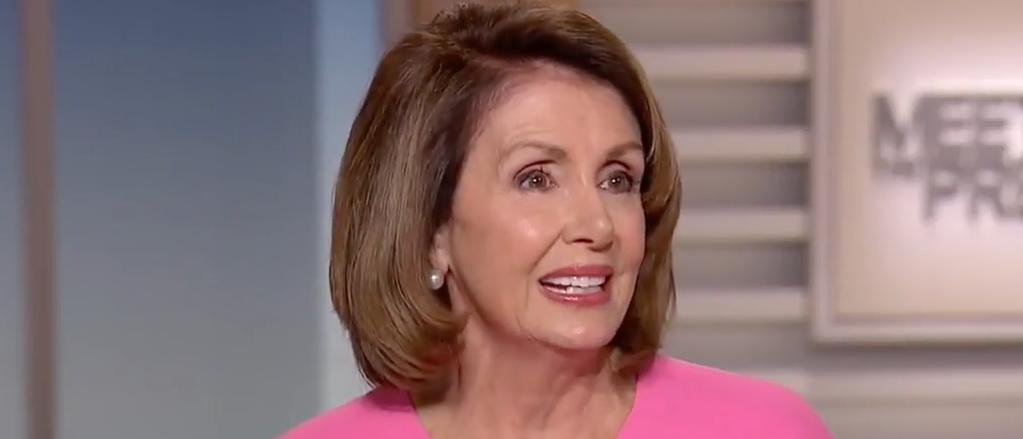"Nancy Pelosi appears on ""Meet the Press,"" Sept. 24, 2017. (Youtube screen grab)"