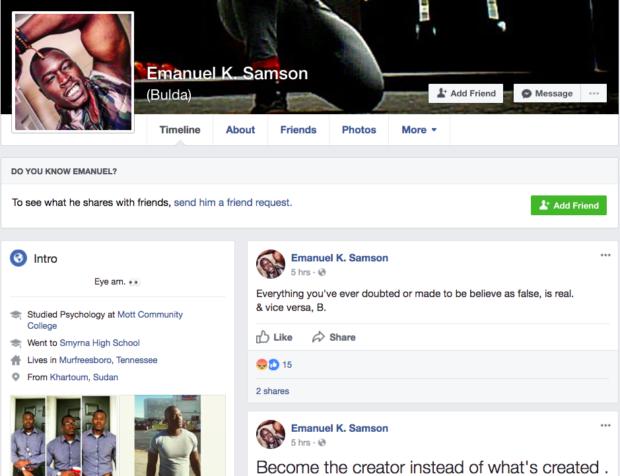 Emanuel K. Samson facebook page (Screenshot/Facebook)