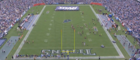 Field EMPTY For The National Anthem At Seahawks Vs. Titans Game