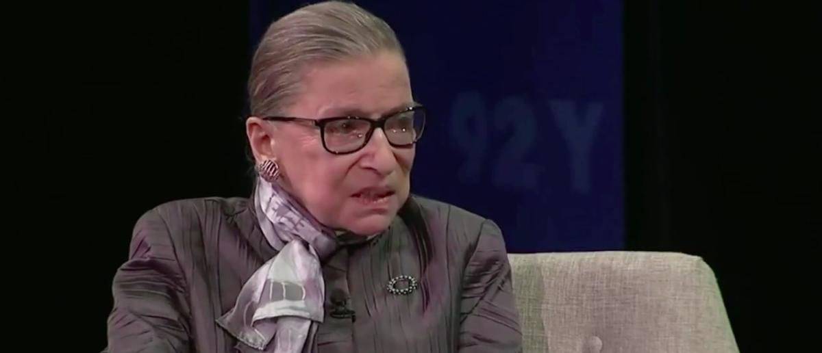 Screenshot Justice Ruth Bader Ginsburg (CBS: Sep 27, 2017)