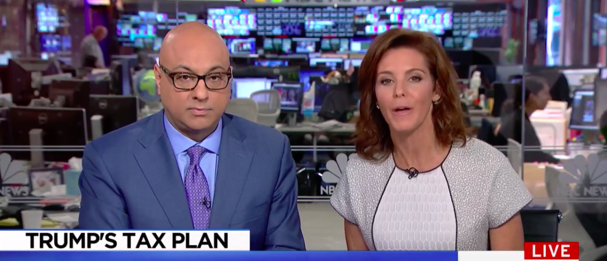 Screen Shot MSNBC Cuts From Trump Tax Speech (MSNBC: Sep 29, 2017)